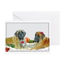 Mastiff Holiday Christmas Car Greeting Cards (Pk o