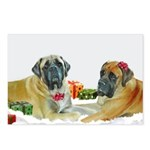 Mastiff Holiday Christmas Car Postcards (Package o