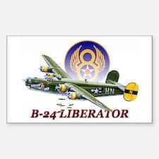 8th AF B-24 airplane Sticker (Rectangle)