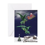 Dragon christmas Greeting Cards