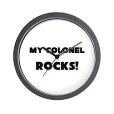 MY Colonel ROCKS! Wall Clock