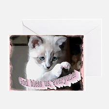 God Bless Us... Greeting Card