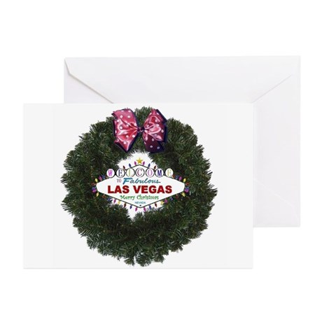 Las Vegas Merry Christmas Wreath Cards 10