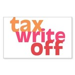 Tax Write Off Rectangle Sticker