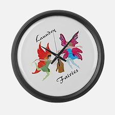 Laundry Fairies Large Wall Clock