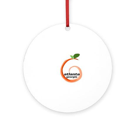 Atlanta Georgia Peach Ornament (Round)
