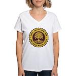 Slippery Support Group Women's V-Neck T-Shirt