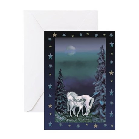 Unicorn Christmas Card (greeting inside)