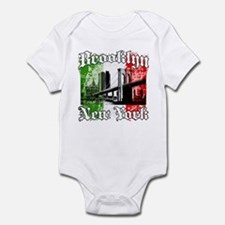 "Brooklyn""Italian Flag"" Infant Bodysuit"