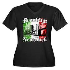"Brooklyn""Italian Flag"" Women's Plus Size V-Neck Da"