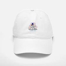 Merry French Snowman Baseball Baseball Cap