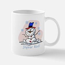 Merry French Snowman Mug