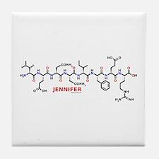 Jennifer name molecule Tile Coaster