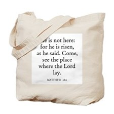 MATTHEW  28:6 Tote Bag