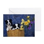 Retro Border Collie Greeting Cards (Pk of 10)