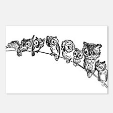 Owls in Tree Postcards (Package of 8)