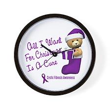 Bear In Stocking 1 (Cystic Fibrosis) Wall Clock