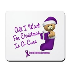 Bear In Stocking 1 (Cystic Fibrosis) Mousepad