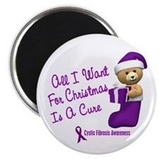 "Bear In Stocking 1 (Cystic Fibrosis) 2.25"" Magnet"