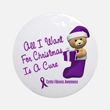 Bear In Stocking 1 (Cystic Fibrosis) Ornament (Rou