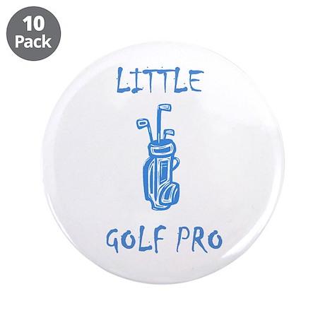 """Little Golf Pro- Boy 3.5"""" Button (10 pack)"""