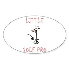 Little Golf Pro- Girl Oval Decal