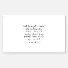 MATTHEW 28:5 Rectangle Decal