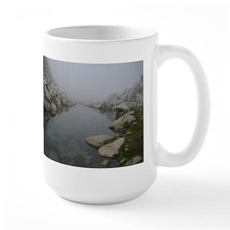 Lake Outlet in Fog Large Mug