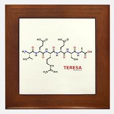 Teresa name molecule Framed Tile