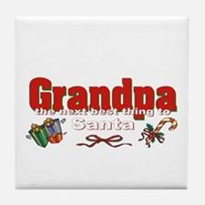 Grandpa, the next best thing to Santa Tile Coaster