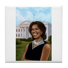 Michelle Obama Tile Coaster
