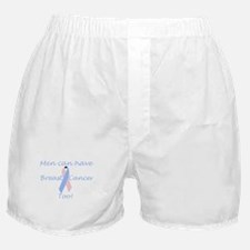Male Breast Cancer Awareness Boxer Shorts