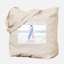 Male Breast Cancer Awareness Tote Bag