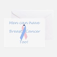 Male Breast Cancer Greeting Card - 6 Per Pack