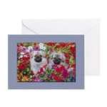 Retro Tibetan Spaniel Greeting Card