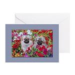 Retro Tibetan Spaniel Greeting Cards (Pk of 10)