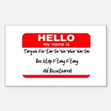 HELLO my name is Tarquin Rectangle Decal