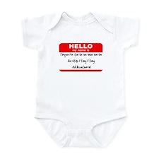 HELLO my name is Tarquin Infant Bodysuit