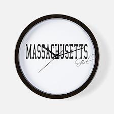 Massachusetts Girl Wall Clock