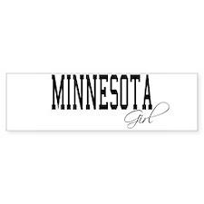 Minnesota Girl Bumper Car Sticker