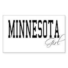 Minnesota Girl Rectangle Decal