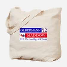 olbermann maddow 2012 Tote Bag