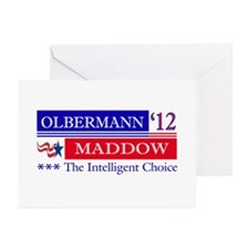 olbermann maddow 2012 Greeting Cards (Pk of 10)