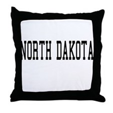North Dakota Throw Pillow