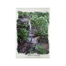 """River Cave Sketch"" Rectangle Magnet"