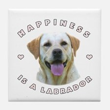 Happiness is a Labrador! Tile Coaster