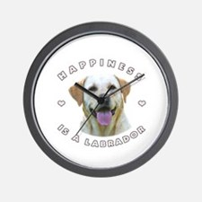 Happiness is a Labrador! Wall Clock