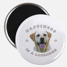 """Happiness is a Labrador! 2.25"""" Magnet (10 pack)"""