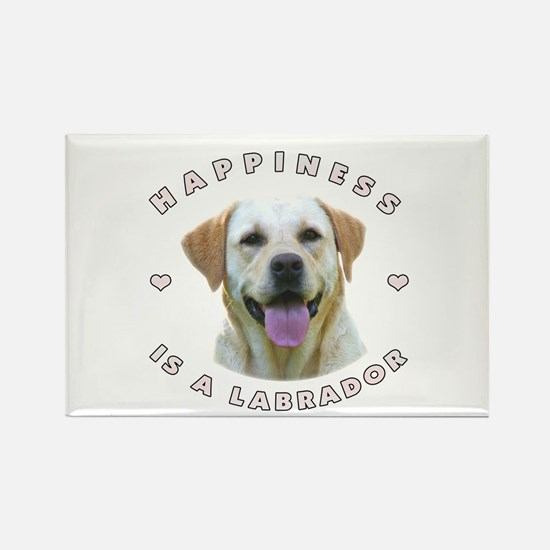 Happiness is a Labrador! Rectangle Magnet
