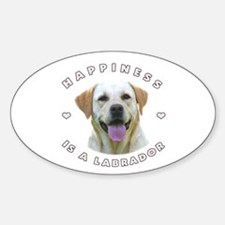 Happiness is a Labrador! Oval Sticker (10 pk)